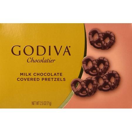 GODIVA Chocolatier Godiva Milk Chocolate Covered Mini Pretzels 2.5 Oz Box (3 Pack), 상세 설명 참조0
