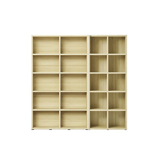 한샘 샘 와이드책장 5단 120cm+샘 책장 80cm 시공 set (컬러 택1), 책장(컬러):메이플(C)