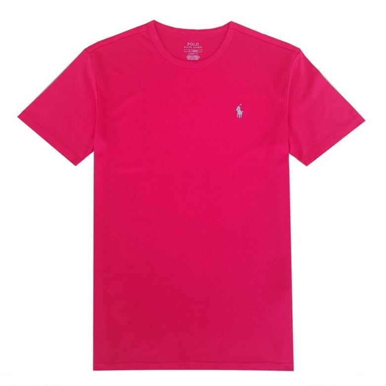 해외직구 클래식 핏 남성 폴로 라운드 넥 티셔츠 비즈니스 캐주얼 레드 반팔티