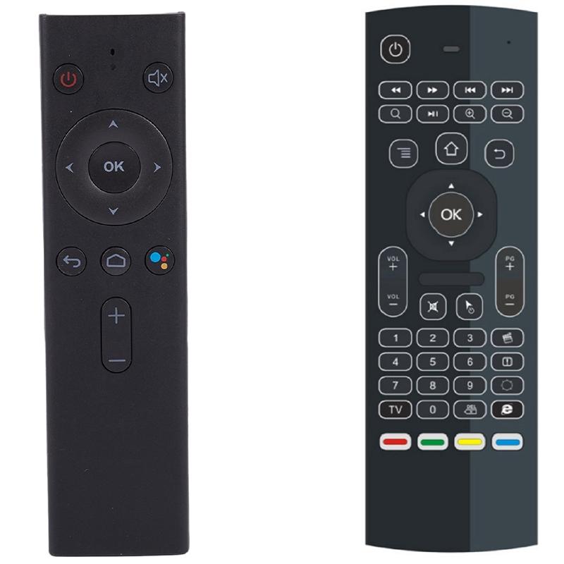 Q8 블루투스 음성 원격 컨트롤러 무선 키보드 에어 마우스 및 MX3 백라이트 에어 마우스 스마트 리모컨, 하나, 검정 (POP 5717565486)
