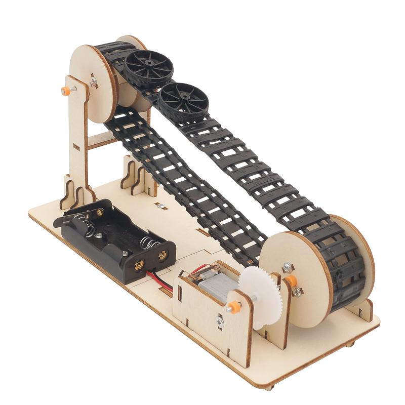 티처스 STEAM 과학교구 모음 집콕 DIY 만들기 3탄, 12.나무 컨베이어벨트 만들기M-11