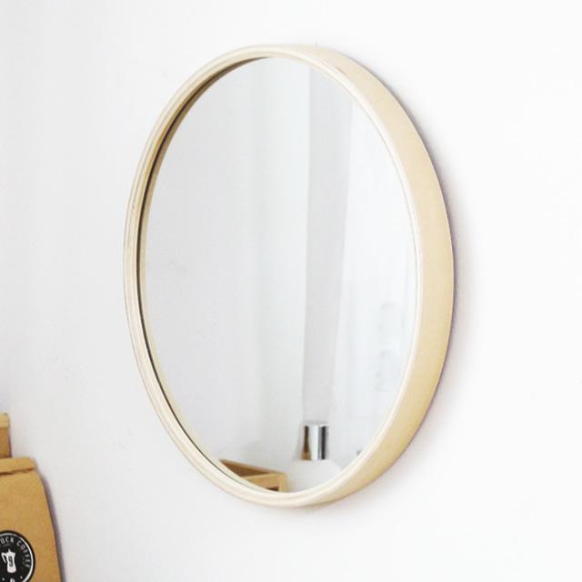 MJK 300 자작나무 슬림 원목 원형거울, 300 슬림 거울 - 내츄럴