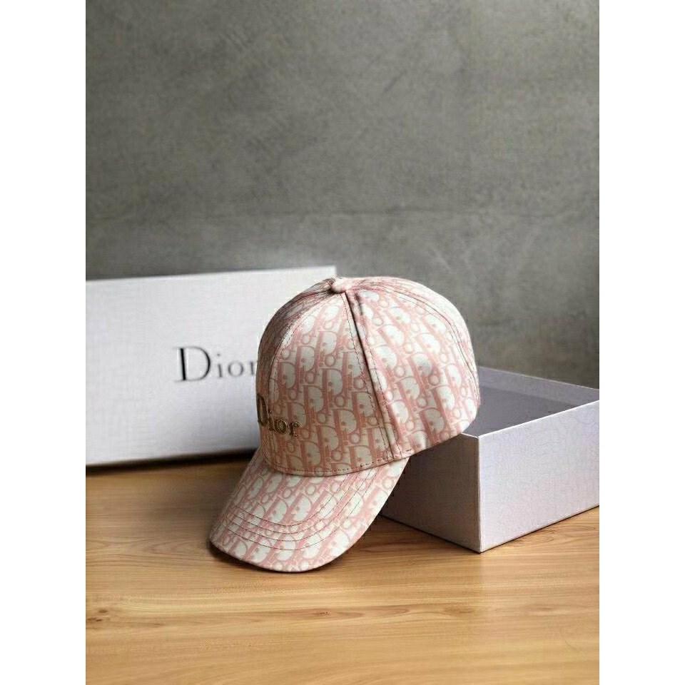 디올 오블리크 핑크 볼캡