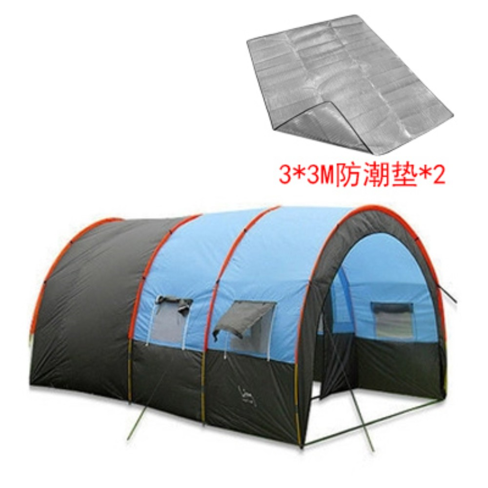 대형 거실 투룸텐트 5~8인용, 텐트 + 2 3m * 3m 방습 패드