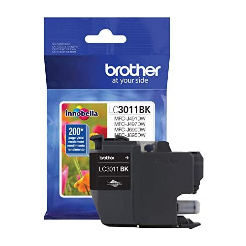 Brother Printer LC3011BK Singe Pack Standard Cartridge Yield Up to 200 Pages LC3011 Ink Black, 본문참고, 옵션 1 Color = Black