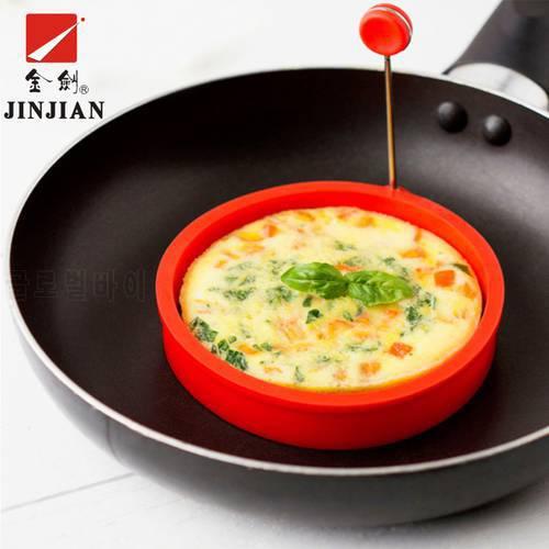 JINJIAN 4 Pcs / Set 실리콘 금형 팬케이크 원형 튀긴 계란 양식 환상적인