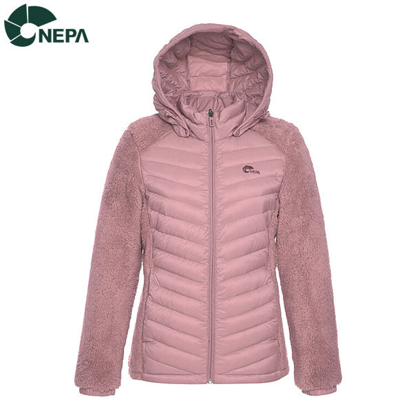 NEPA 네파 여성 벨로체하이브리드 덕다운자켓 인디고핑크 7G82022