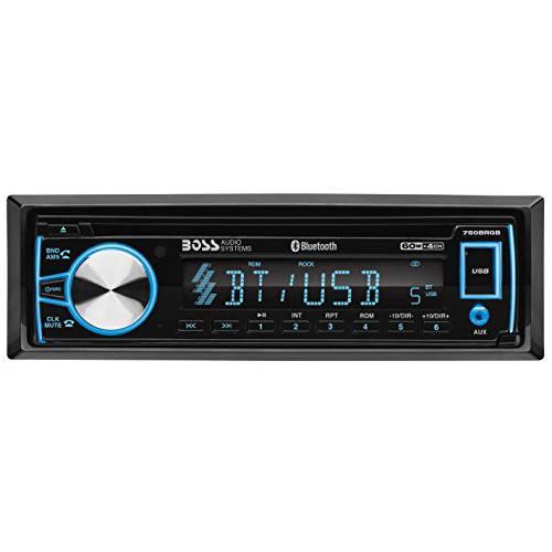 BOSS 오디오 Systems 750BRGB 차량용 스테레오-단일 소음 블루투스 CD MP3, 상세내용참조