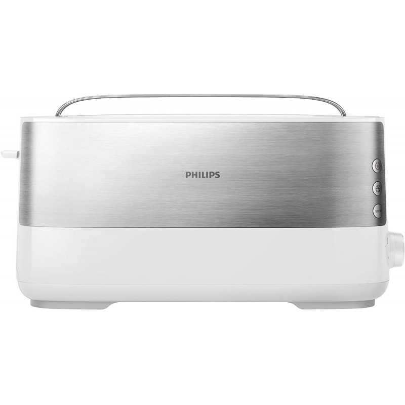 필립스 롱 슬릿 토스터(스테인리스) 8탄 레벨 롤빵 부착 950와트 화이트 HD2692/00, 단일상품