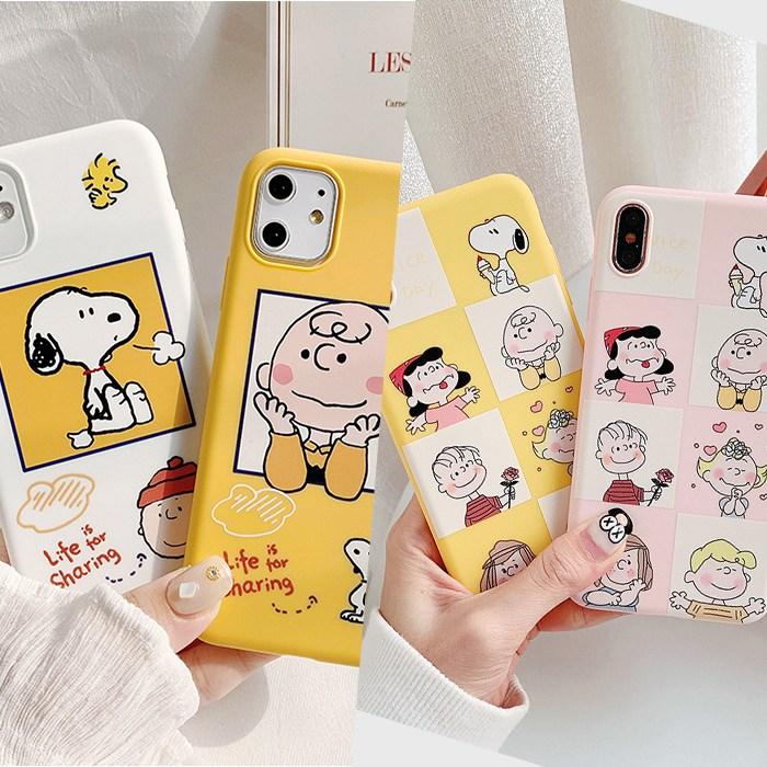 아이폰 스누피 7 8 SE2 케이스 휴대폰
