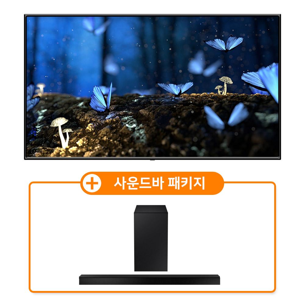 삼성 QLED TV KQ75QA60AFXKR + HW-A550 사운드바패키지 .., 정품각도조절벽걸이형