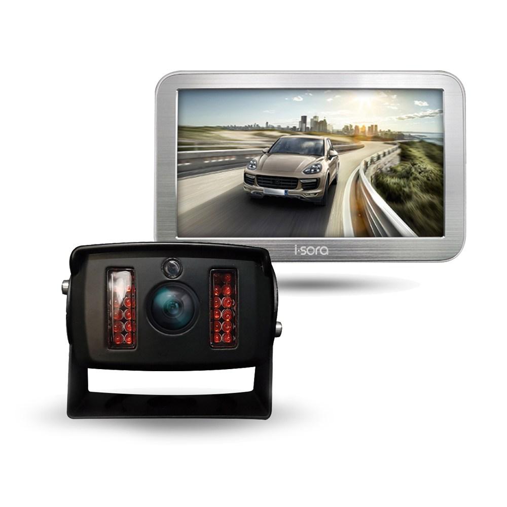 아이소라 후방카메라+LED모니터 세트 와이드화각 화물차 대형차, 시모스와이드+7거치480메탈실버+Y시거잭+일체형20M
