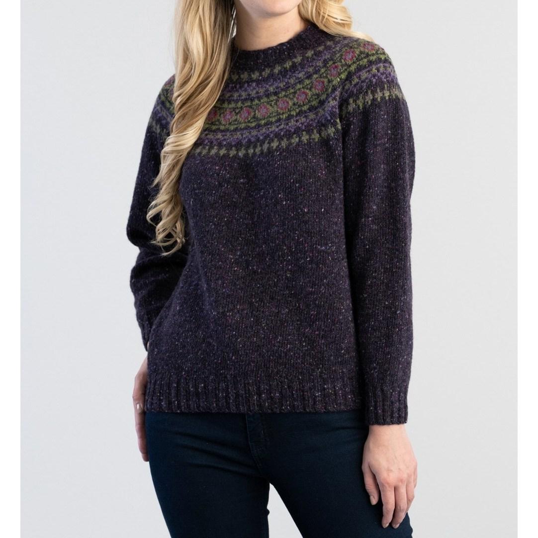 할리 오브 스코틀랜드 HARLEY OF SCOTLAND 여성 크루넥 여자 스웨터 니트