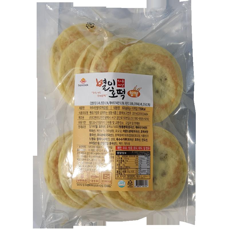 반쿡 냉동 수제 찹쌀 씨앗호떡 600g(10개입)