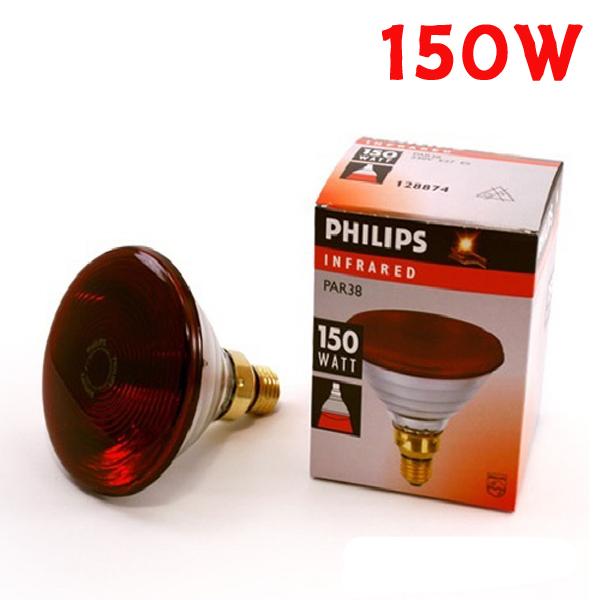 필립스 적외선전구 150W 적외선조사기램프 치료기전구, 1