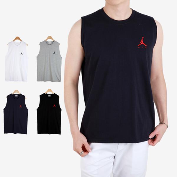 블리트 남성용 조던 자수 무지 민소매 티셔츠