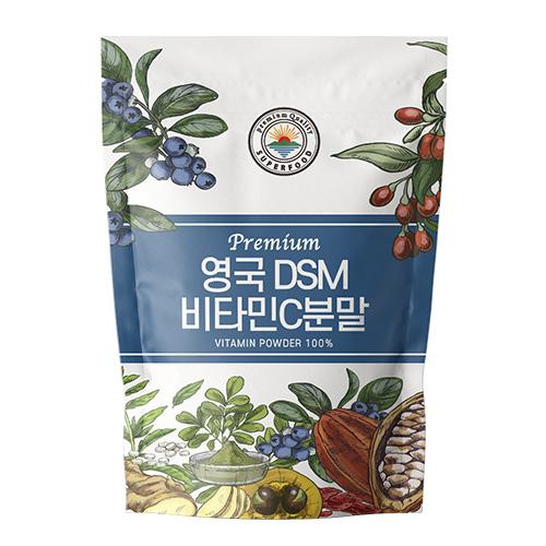 DSM제조 영국산 100% 정품 비타민C 분말 파우더, 500g, 1개
