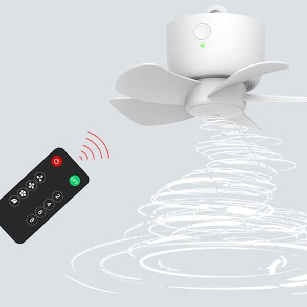 용광로 무선 미니 USB 타프팬 캠핑용 천장형 휴대용 에어 써큘레이터 선풍기 리모콘포함
