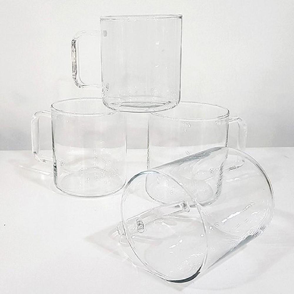 시맥스 프롬 머그 4P 300ML 주방용품 내열유리컵 유리컵 ejuu, 상세페이지참조(), 1개