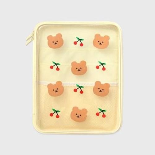 아트박스/어프어프 Dot cherry bear-ivory(PVC 파우치)