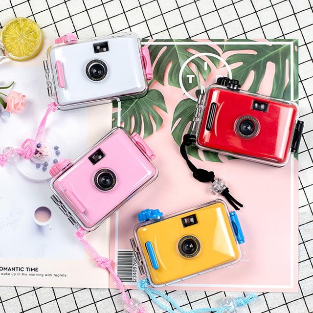 필름 카메라 토이 카메라 방수 커버 증정 13컬러, 기본구성, 플라워 블랙 커버