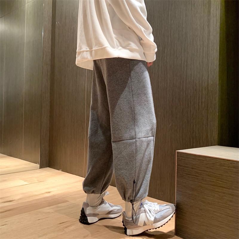 쥬킴쇼핑몰 겨울트레이닝팬츠 겨울트레이닝바지 남자 와이드 루즈핏 조거 두터운 융털 캐쥬얼 긴바지 츄리닝바지 고가 건달 멋지다