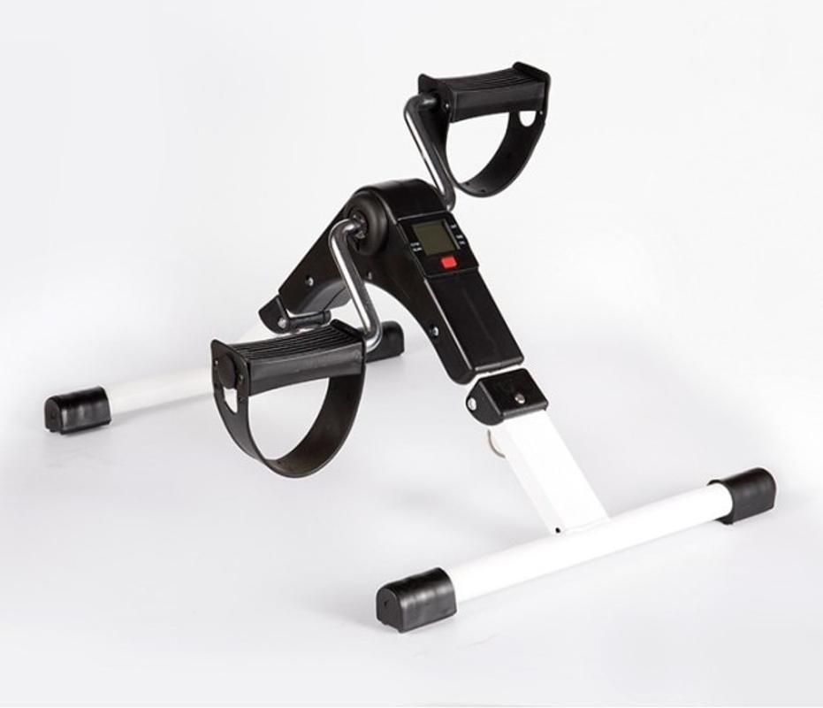 홈 미니 피트니스 자전거 LCD 디스플레이 실내 사이클링 스테퍼 물리 치료 재활 사지, 하얀, CN-21-5873278528
