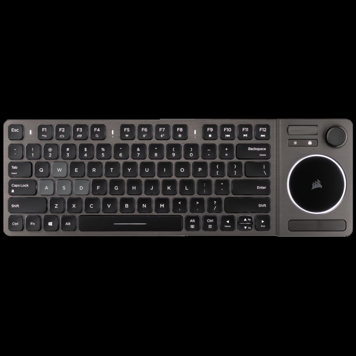 커세어 K83 무선 엔터테인먼트 키보드, 블랙