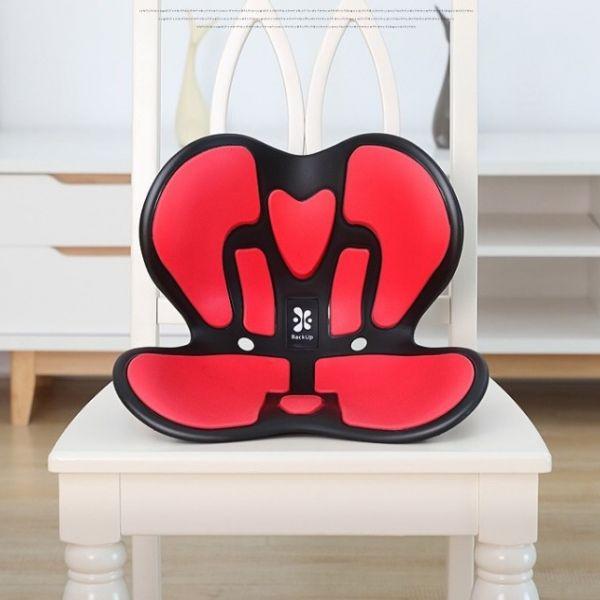 Backup 커블 손연재 와이더 체어 허리보조 거북목 성인용 좌식 의자, 블랙