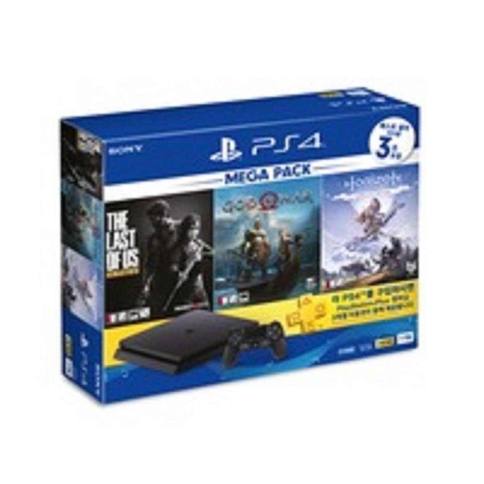 소니 PS4 슬림 본체 2218 1TB 메가팩 MEGA PACK 블랙 게임3종포함 밀봉 새제품