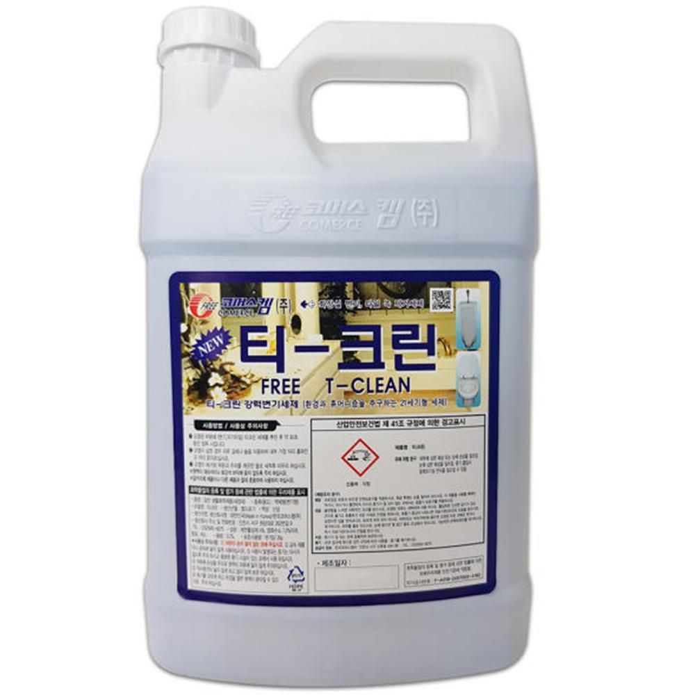 티크린 4L 화장실 타일 변기 강력 세정제 악취 살균