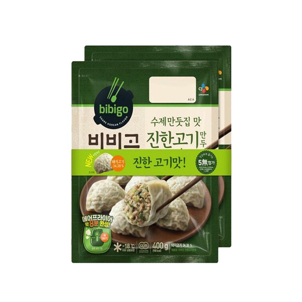 (냉동)비비고 수제(진한)고기만두400gx2개, 1개