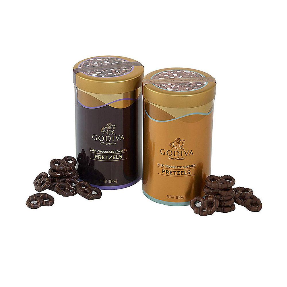 Godiva 고디바 초콜릿 커버드 프레첼 2세트 Chocolatier Chocolate Covered Pretzels Variety Pack, 1개