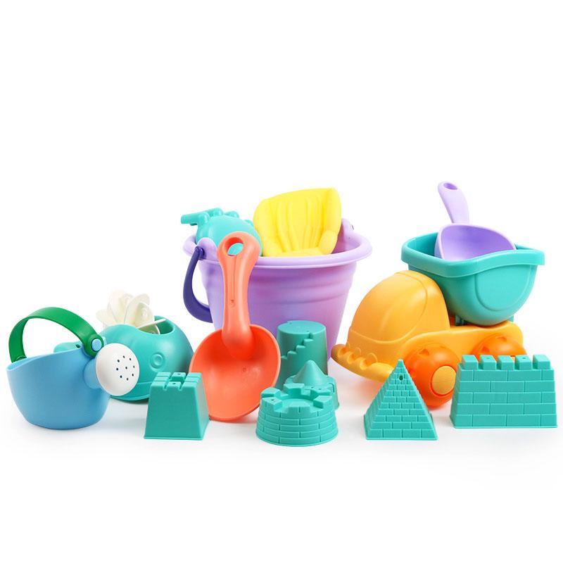 [해외 직송]뉴타임즈 모래놀이 야외완구 어린이 비치 장난감 세트 아기 모래 연못 모래삽입 모래삽입물과 통놀이도구 목욕 XZ15 C11, 1개, 03 14피스-제1세대