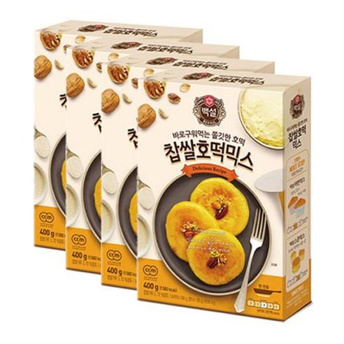 호호몰 CJ백설 찹쌀호떡믹스400g, 4개