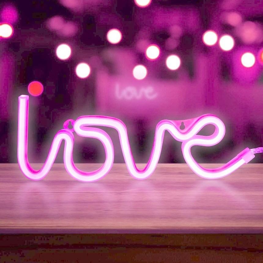 차박 감성캠핑 LED실리콘 네온무드조명 홈카페 베란다 테라스 레터링 러브무드등 수유등 인테리어조명, LOVE네온등(핑크)