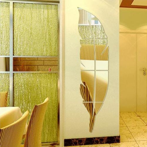 [2+1 사은품증정] 인테리어 J&S 아크릴거울 안전 포인트 3D 벽장식 소품 스티커, 나비의향연(실버)