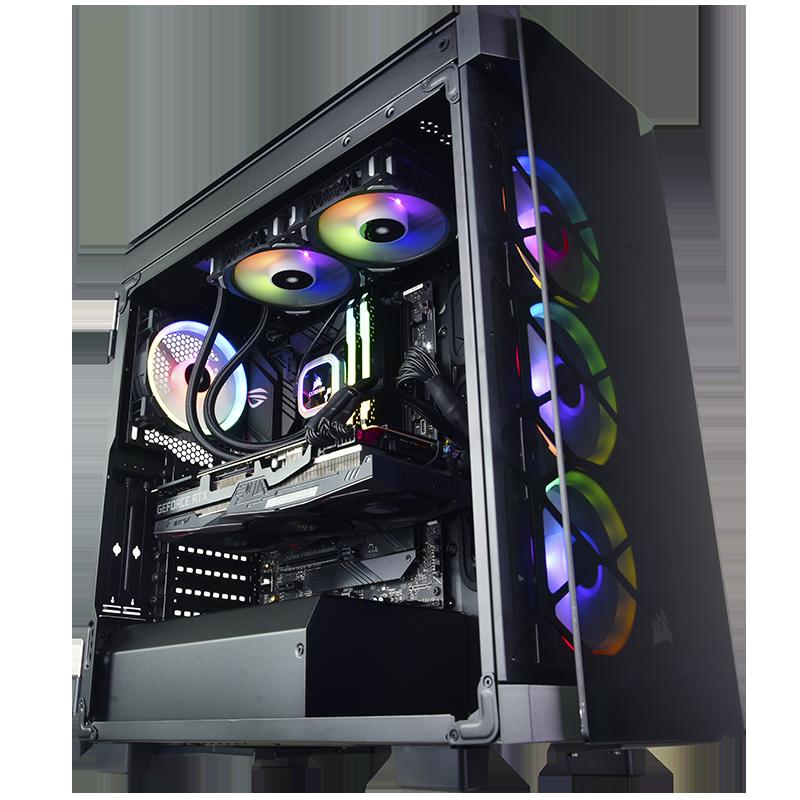 커스텀 수냉 미상해적선 i7 10700KF/RTX 3090 24G DIY 데스크톱 컴퓨터, 01 설정 1, 01 패키지 1, 01 16GB