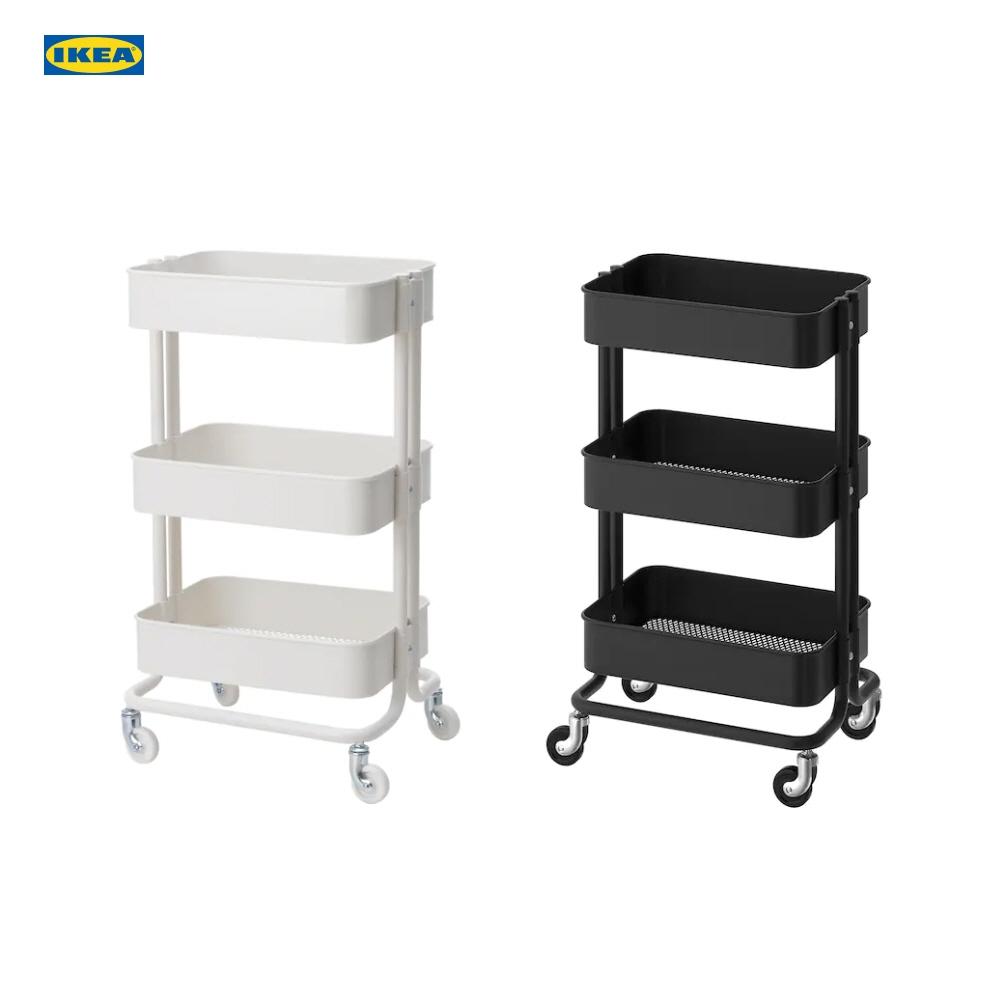 이케아 IKEA 로스코그 RASKOG 카트 트롤리 3단, 흰색(21)