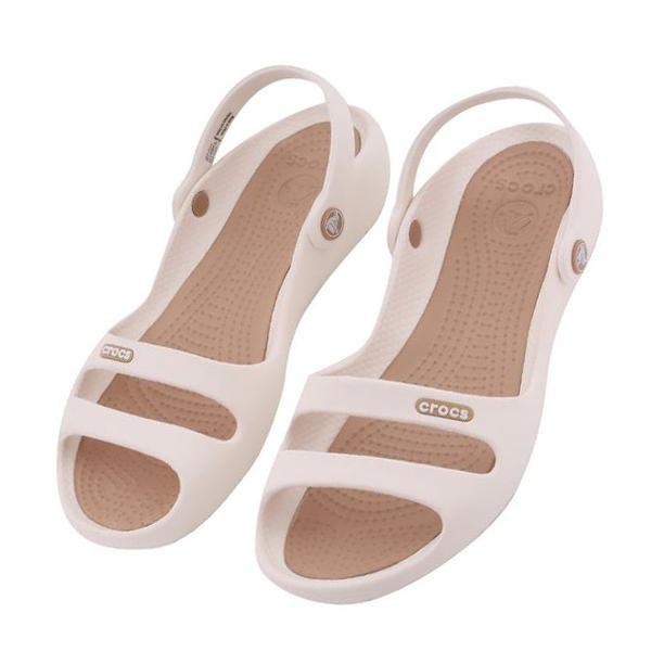 크록스 여성 클레오2 샌달 - 오이스터 Crocs Women's