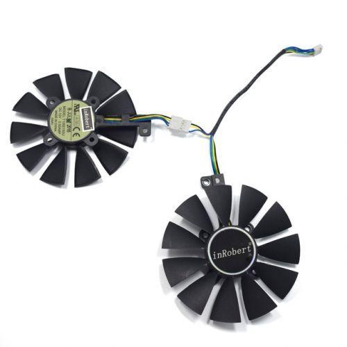 [해외] 쌍 87 쿨러 팬 ASUS GTX1060 1070 TI RX 470 570 580 그래픽 카드 EVERFLOW T129215SU PLD09210S12HH 28 냉각 팬