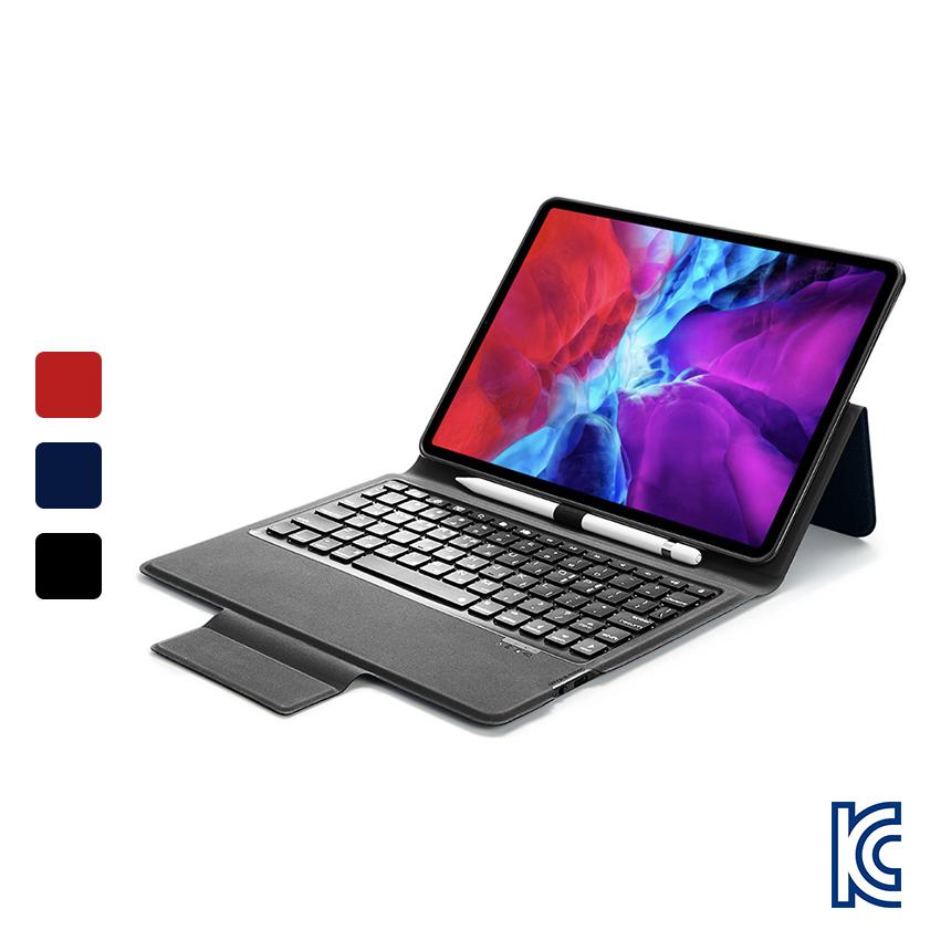 ESR 아이패드 프로12.9 4세대 블루투스 키보드 케이스, 블랙 EB466
