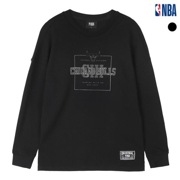 NBA CHI BULLS 레이어드 맨투맨티셔츠