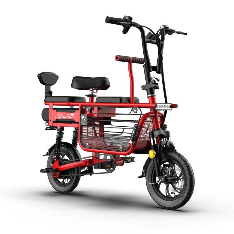 Adiman PQ접이식 전동자전거 12인치 항속100km폴딩전기자전거 여성전기차, 레드