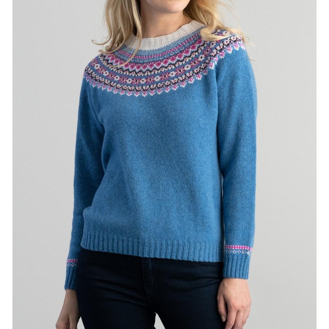 할리 오브 스코틀랜드 HARLEY OF SCOTLAND 여성 페어아일 크루넥 여자 스웨터 니트 우먼