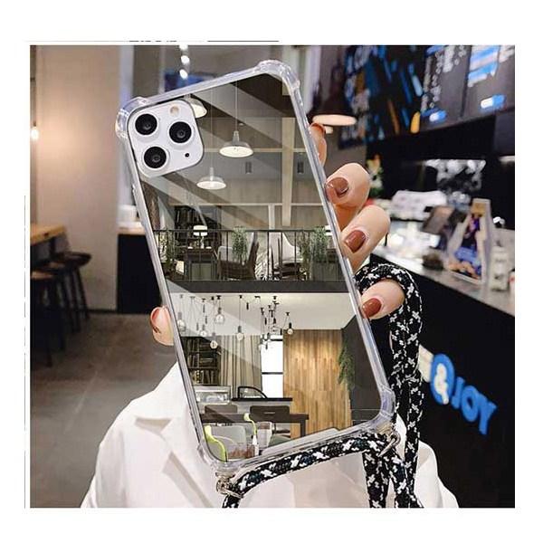 N986 (갤럭시 노트20울트라)_전용 스트랩 하이그로시 미러 쿠션 휴대폰 케이스