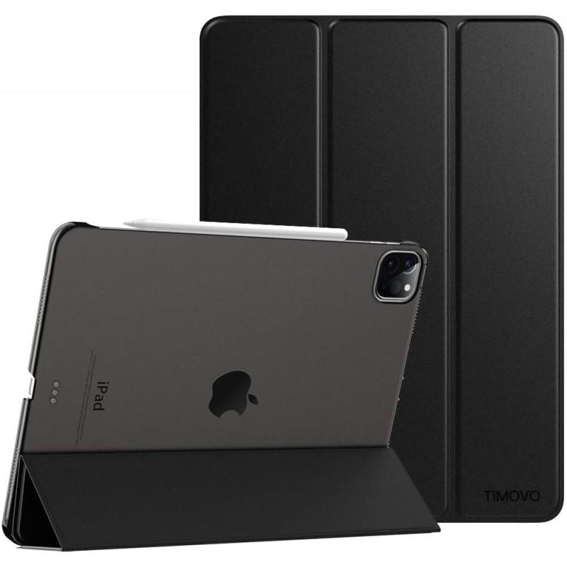 새로운 iPad Pro 11 인치 2020 (2 세대) 용 TiMOVO 케이스 스마트 슬림 경량 반투명 젖빛 뒷면 보호 커버 쉘 iPad 연필 충전, 단일옵션