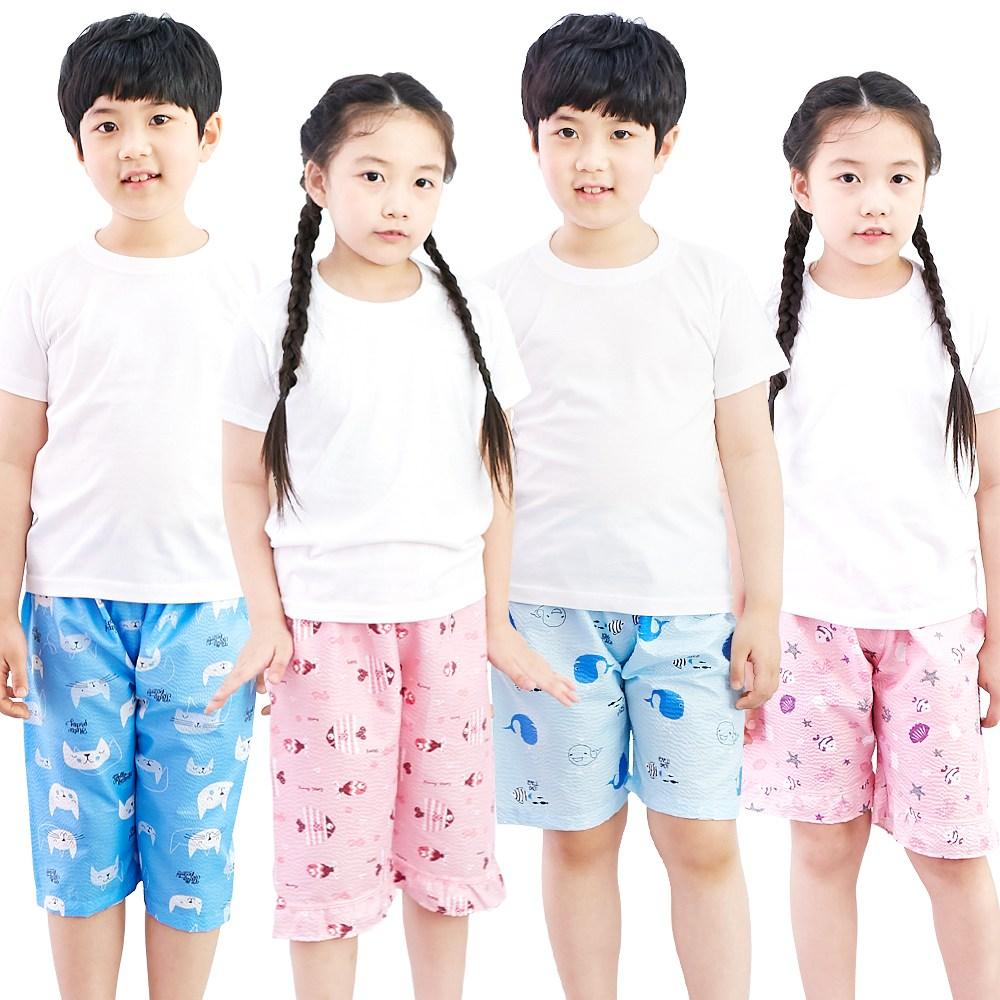 아동 엠보파자마 5부/7부 유아동 주니어 파자마 여름잠옷 남아 여아 실내복
