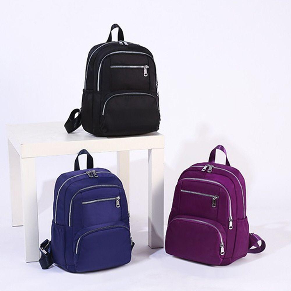 여성 캐주얼 패션 가벼운 심플 단색 천가방 배낭 가방