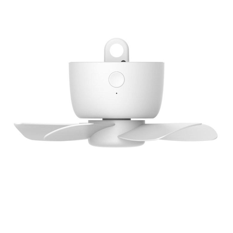 캠핑 타프팬 실링팬 거실 천장 USB 충전식 무선 선풍기 천장형 천장걸이, USB 충전형 모델 - 클린화이트